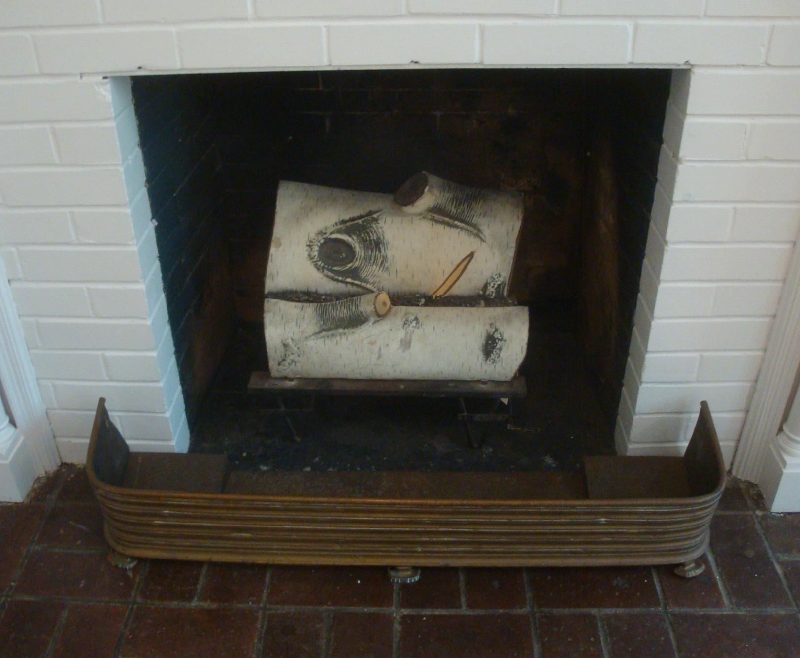 Early Arts Crafts Brass Fireplace Fender Rail Chairish