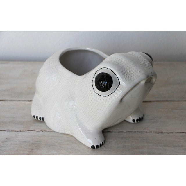 1970s Hobnail Frog Planter in the Style of Jean Roger For Sale - Image 13 of 13