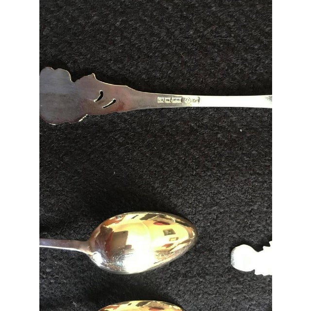 French Teaspoons and Silver & Gold Cake Server, 1950s - Set of 13 For Sale - Image 6 of 8