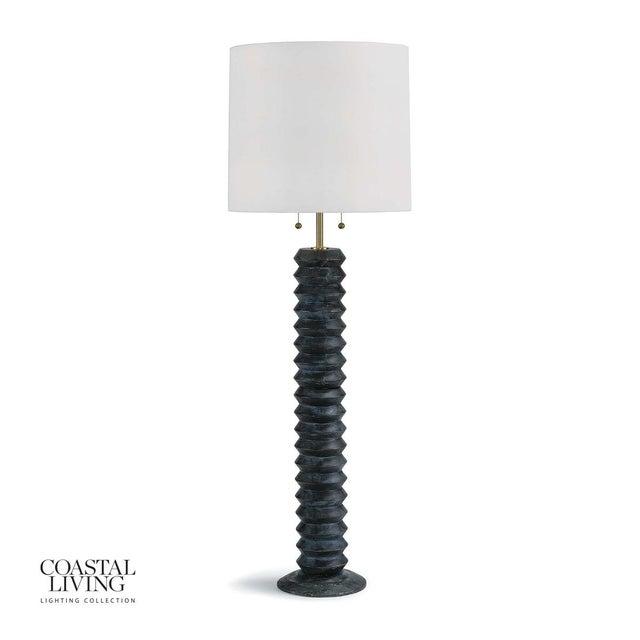 Accordion Floor Lamp in Ebony For Sale - Image 9 of 9