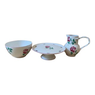 Tiffany Strasbourg Cake Stand, Large Bowl and Pitcher For Sale