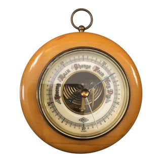 1930s Cottage Atco Wall Barometer Weather Guide For Sale