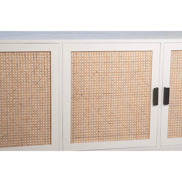 Modern White Cane Sideboard For Sale - Image 4 of 5