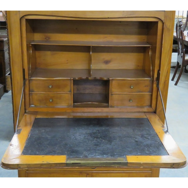 French-Style Marbletop Abbatant Desk - Image 3 of 6