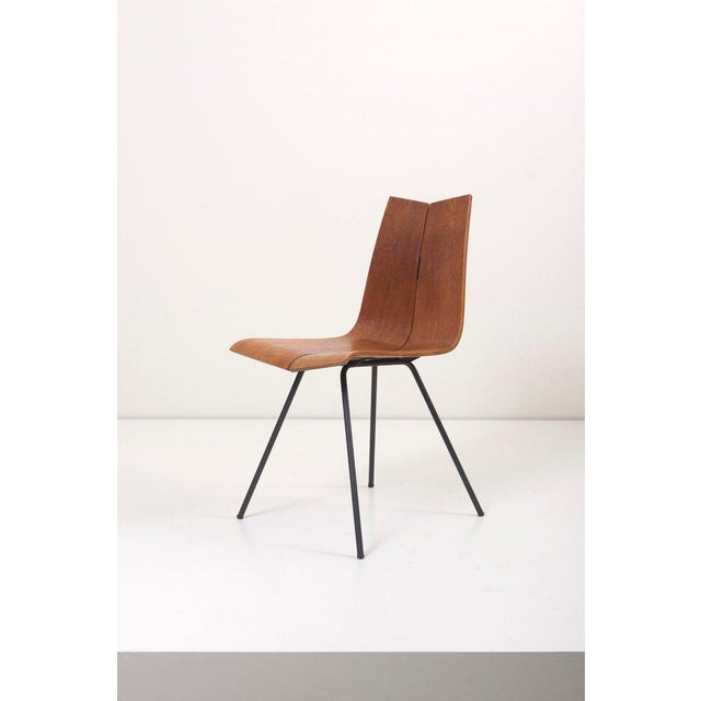 """1950s Set of Eight """"Ga"""" Chairs by Hans Bellmann for Horgen-Glarus, Switzerland, 1950s For Sale - Image 5 of 9"""
