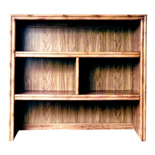 Faux Bamboo 4 Compartment Hutch Bookcase by Lea Circa 1960s For Sale