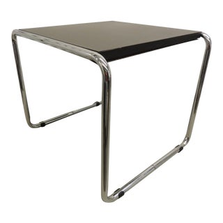 Marcel Breuer Style Tubular Steel Side Table