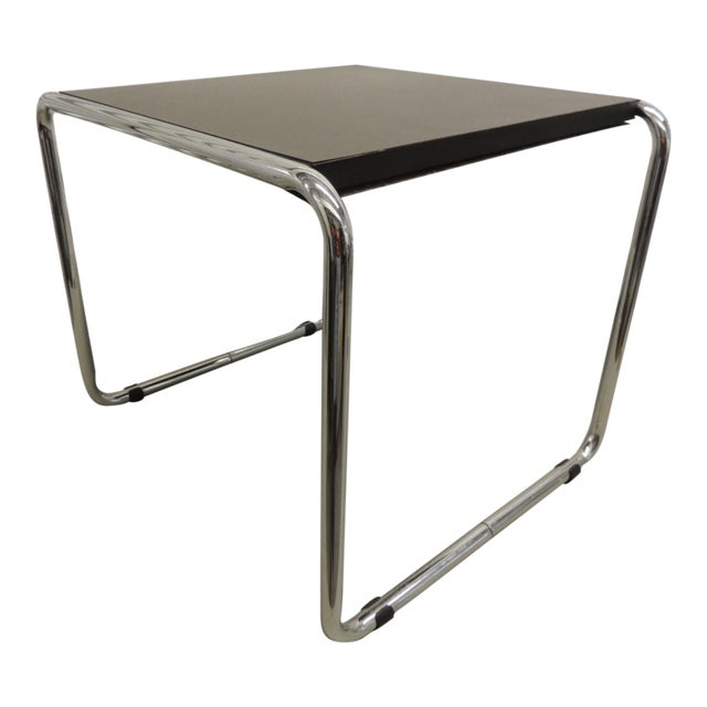 Marcel Breuer Style Tubular Steel Side Table For Sale