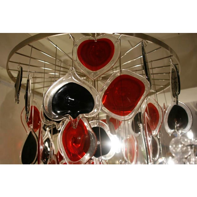 Cenedese Cenedese Poker Chandelier For Sale - Image 4 of 7