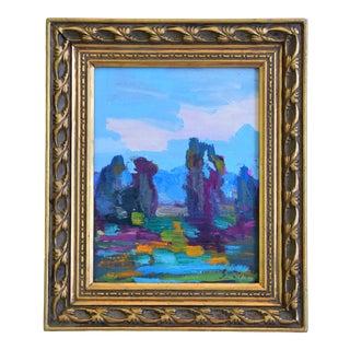 Juan Pepe Guzman Ojai Californian Landscape Oil Painting For Sale