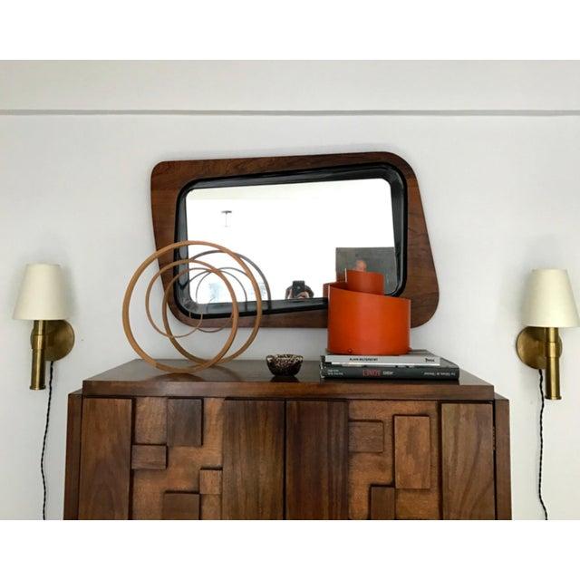 Orange Metal Spiral Table Lamp, Circa 1950s For Sale - Image 4 of 6