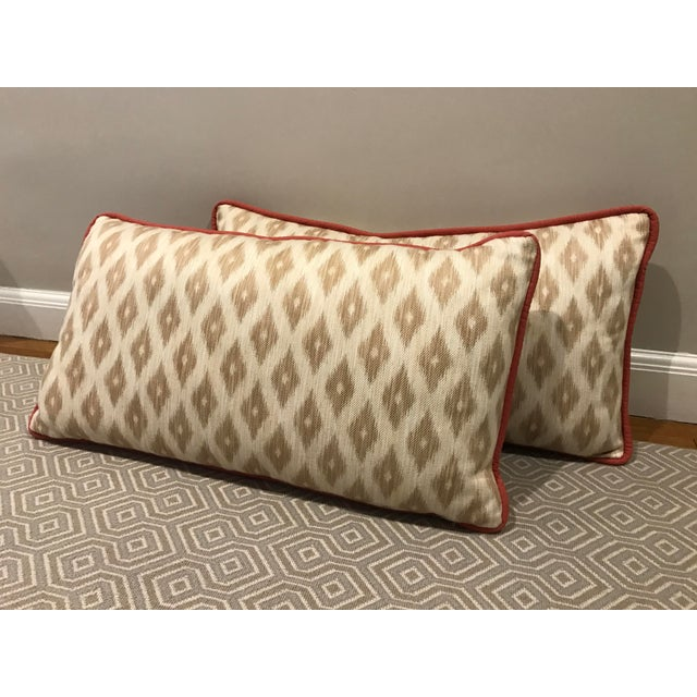 Decorative King Size Pillowcases : King Size Decorative Patterned Pillows - A Pair Chairish