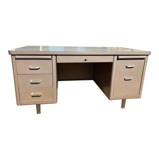 Steelcase Mid Century Modern Steel Desk For Sale
