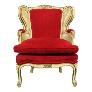 Early 20th Century Louis XVI Style Child's Wingback Chair For Sale