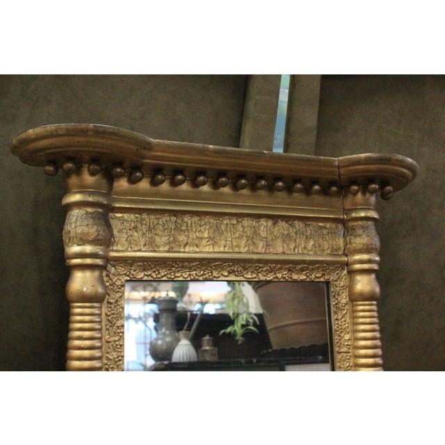 Art Nouveau Art Nouveau Gold Two Section Mirror For Sale - Image 3 of 9