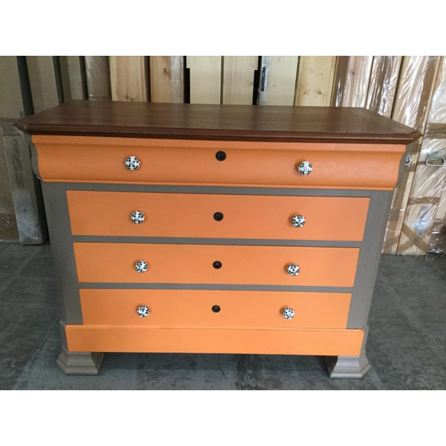 French Painted Louis-Philippe Chest For Sale - Image 5 of 7