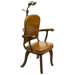 20th Century Antique Early American W. D. Allison Dental Medical Examination Chair For Sale