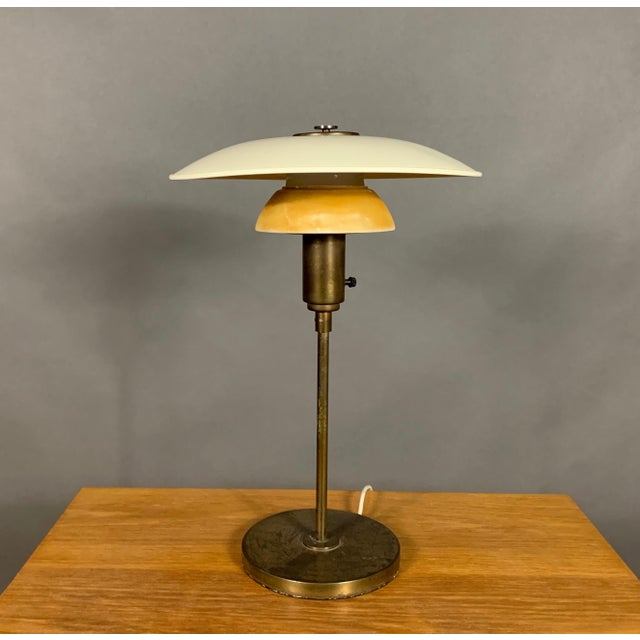 1930s Lyfa of Denmark Table Lamp, Glass, Brass & Lacquered Metal For Sale - Image 10 of 10