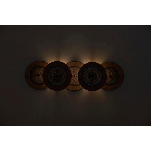 Set of 15 Ceramic Wall Lights by Noomi Backhausen & Poul Brandborg for Søholm For Sale - Image 9 of 11