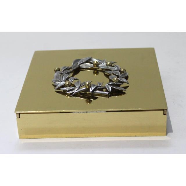 Brass Vintage Vassilis Zoulias. Brass Box For Sale - Image 8 of 13