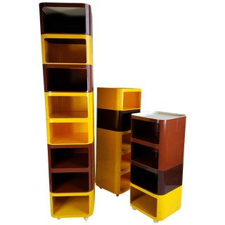 Anna Castelli Ferrieri Set of Componibili Storage Units by Kartell - 17 Pieces For Sale