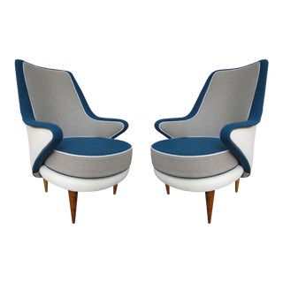 A Pair of Armchairs by ISA, Italy 1960
