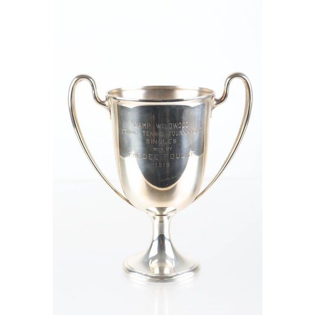 1919 Tiffany & Co Sterling Silver Camp Wildwood Tennis Trophy For Sale In New York - Image 6 of 6