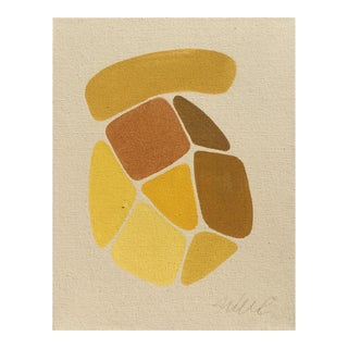Yellow Puzzle Original Acrylic Painting For Sale