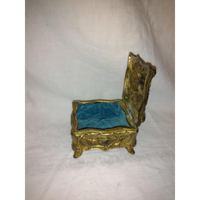 Jennings Bros. Antique Art Nouveau Jennings Brothers Jewelry Casket For Sale - Image 4 of 7