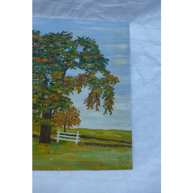 HL Musgrave Mid-Century New England Trees Painting - Image 5 of 6