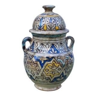 Arabesque-Patterned Ceramic Vase For Sale