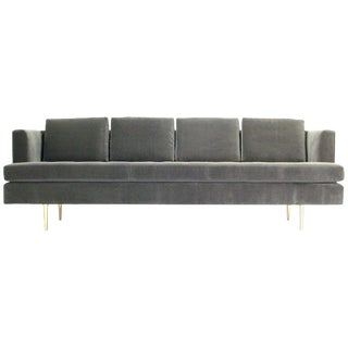Mid-Century Dunbar Sofa by Edward Wormley in New Velvet Fabric For Sale