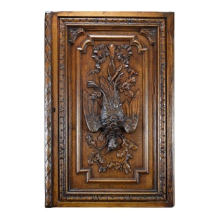 Late 19th Century Black Forest Carved Wood Door For Sale