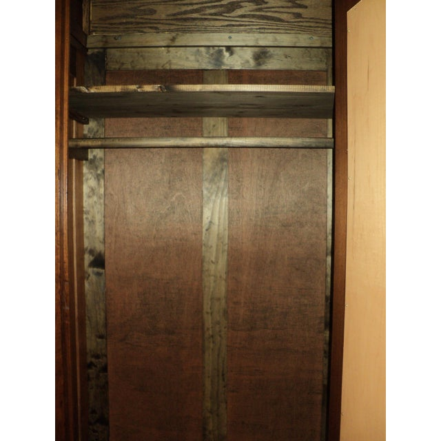 Antique Walnut Eastlake Victorian Armoire - Image 7 of 8