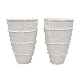 """Italian Ceramic """"Pompeii"""" Urns- A Pair For Sale"""
