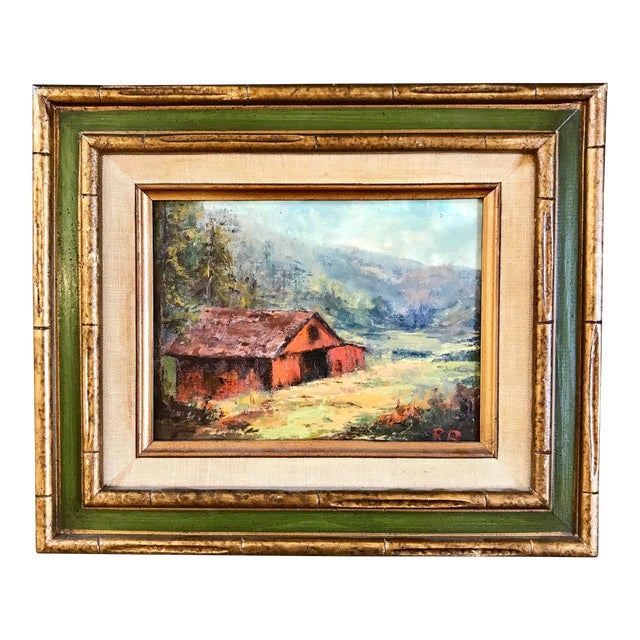 1969 Landscape Oil Painting on Canvas by Ruth Buschbaum For Sale