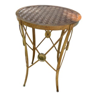 Campaign Style French Empire Side Table For Sale