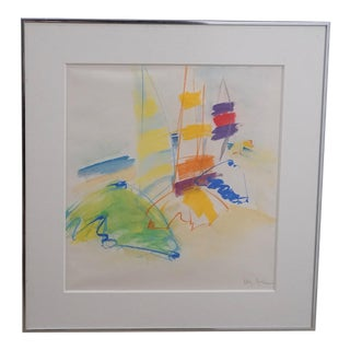 Mary Page Evans, Abstract Sailboat Scene For Sale