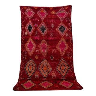 "Boujad Vintage Moroccan Rug, 6'3"" X 10'8"" For Sale"