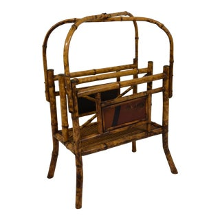 19th-Century Unusual Bamboo Magazine Rack For Sale