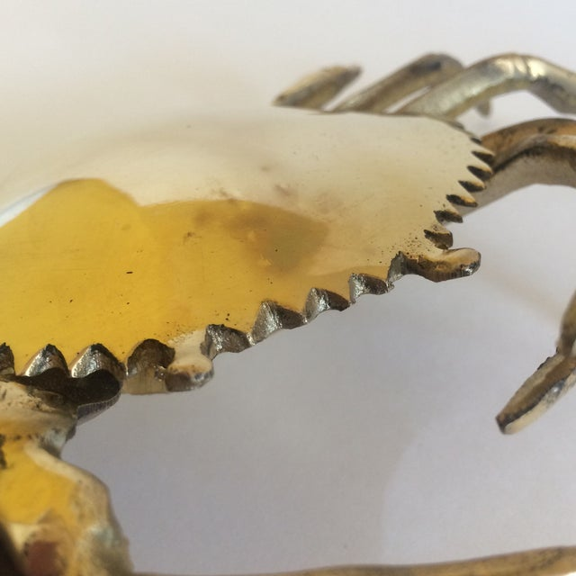 Coastal Living Brass Crab Ash Tray - Image 8 of 9