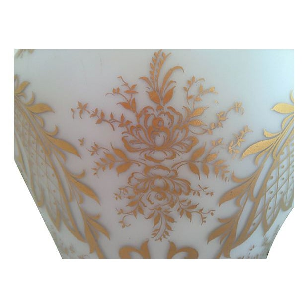 Hand-Painted French Glass Pendant Light - Image 2 of 5
