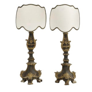 Pair of Baroque Architectural Element Lamps For Sale
