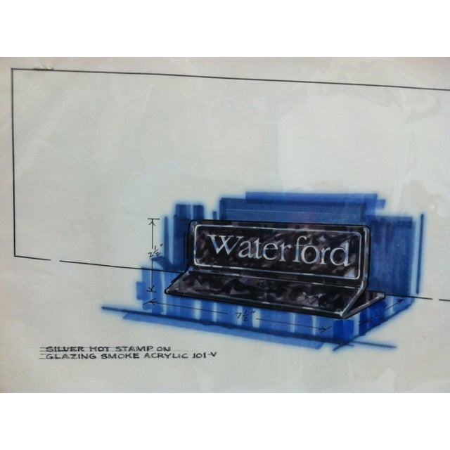 "American 1980s Displayco East ""Waterford - Glazing Smoke"" Original Advertising Drawing For Sale - Image 3 of 5"