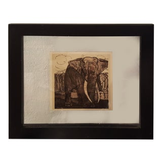 """Vintage """"Peinture & dessins de Paul Jouve"""" Elephant Sketch For Sale"""