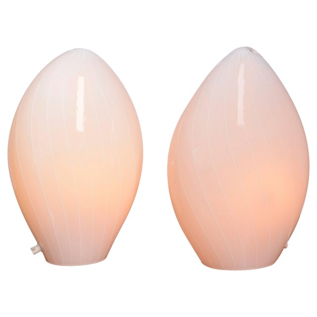 Pair of Italian Modern Vetri Murano Hand Blown Table Lamps For Sale - Image 11 of 11