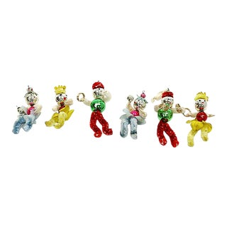 Vintage Mid-Century Clown Ornaments, Set of 6 For Sale