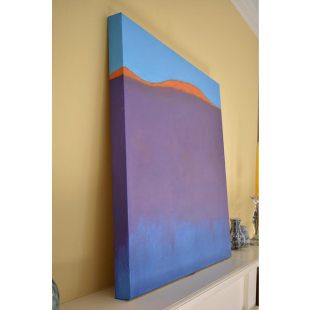 """Canvas Stephen Remick """"Sunset on the Mountain"""" Contemporary Abstract Painting For Sale - Image 7 of 10"""