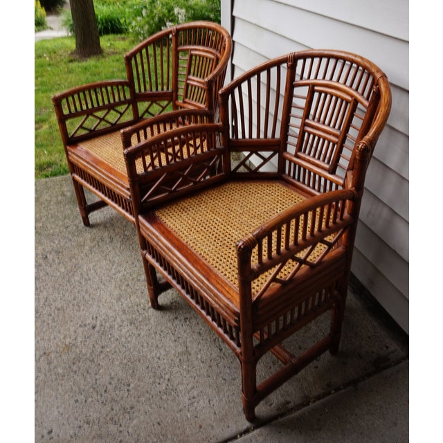 Asian Chinese Chippendale Bamboo Brighton Pavilion Chairs - a Pair For Sale - Image 3 of 13