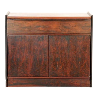 1960s John Nyquist Small Rosewood Freestanding or Wall-Mounted Cabinet For Sale